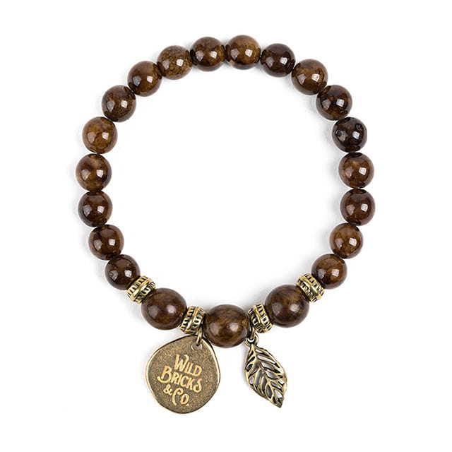 와일드브릭스WB GEMSTONE BRACELET (brown)