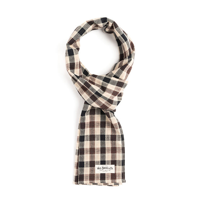 와일드브릭스BB GINGHAM CHECK STOLE (beige)